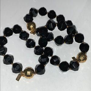 Set of 3 black and gold Kate spade bracelets